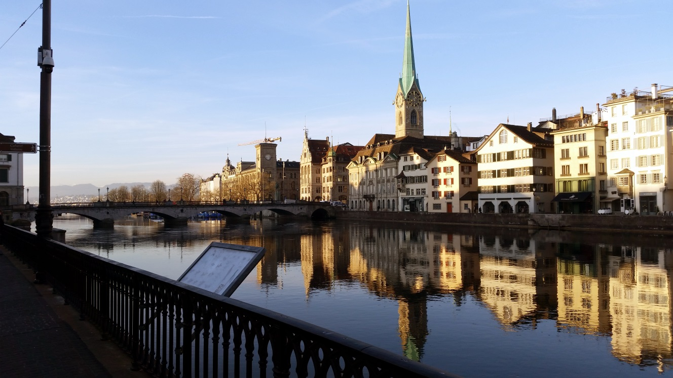 zurich city and limmat